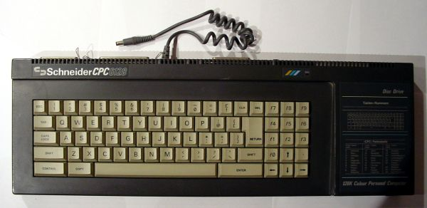 German Amstrad CPC6128 keyboard